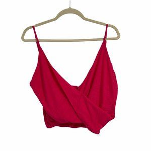 Blue life crop top pink size small